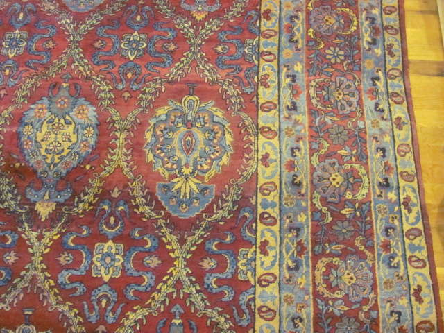 24865 antique persian kirman carpet 9,7x23,8-2
