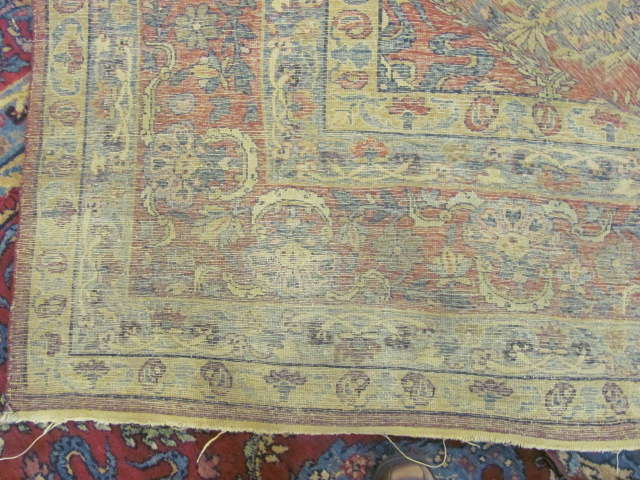 24865 antique persian kirman carpet 9,7x23,8-3