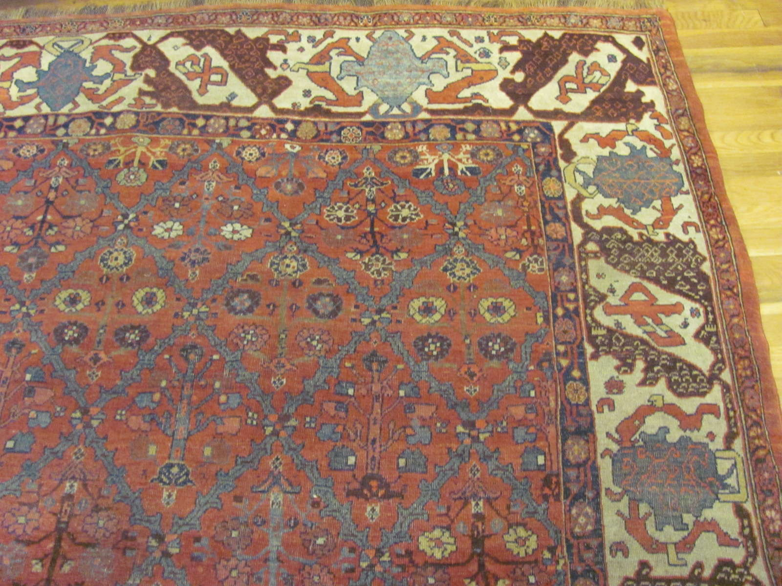 24868 antique persian bidjar rug 7,8x10,6-2
