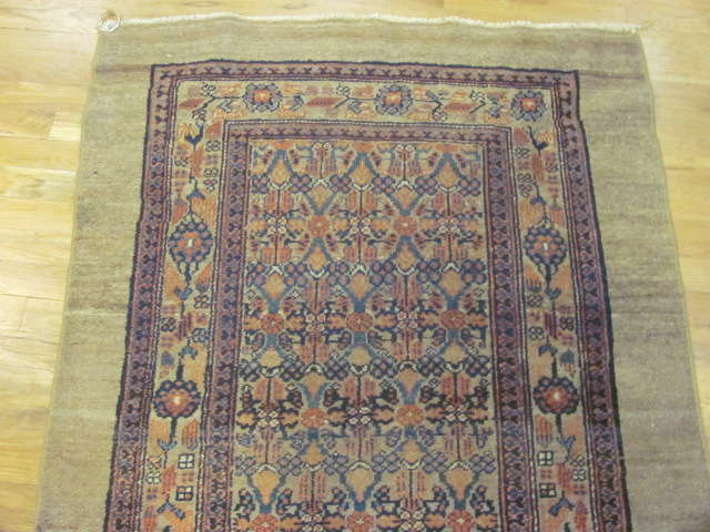 24886 antique persian hamadan camel hair runner 3,4x16,5-1