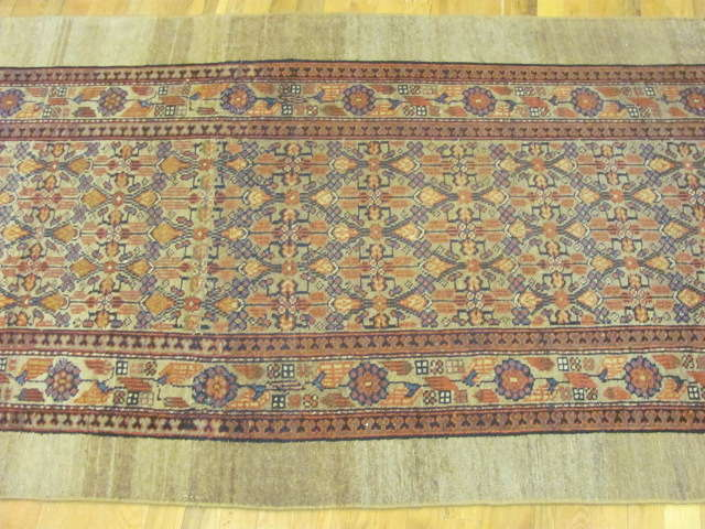 24886 antique persian hamadan camel hair runner 3,4x16,5-2