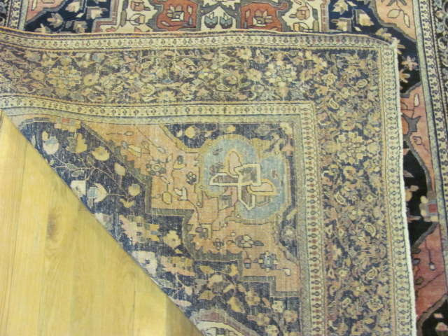 24901 antique persian sarouk farahan rug 4 x 6,7-3
