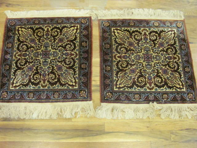 24922 Pair of India small rugs each 2 x 2