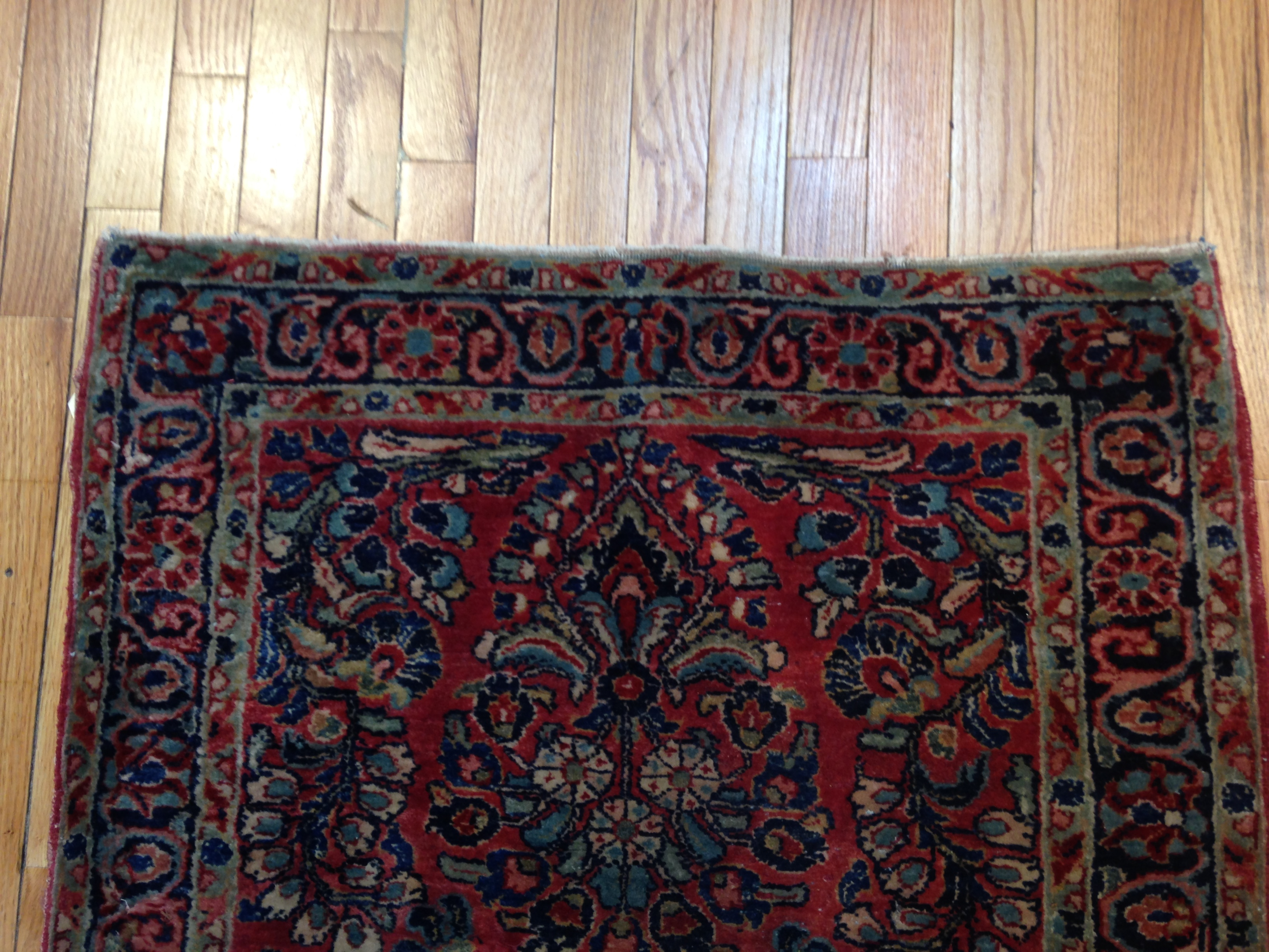 24928 Persian Sarouk hall runner 2,9 x 9,11-1