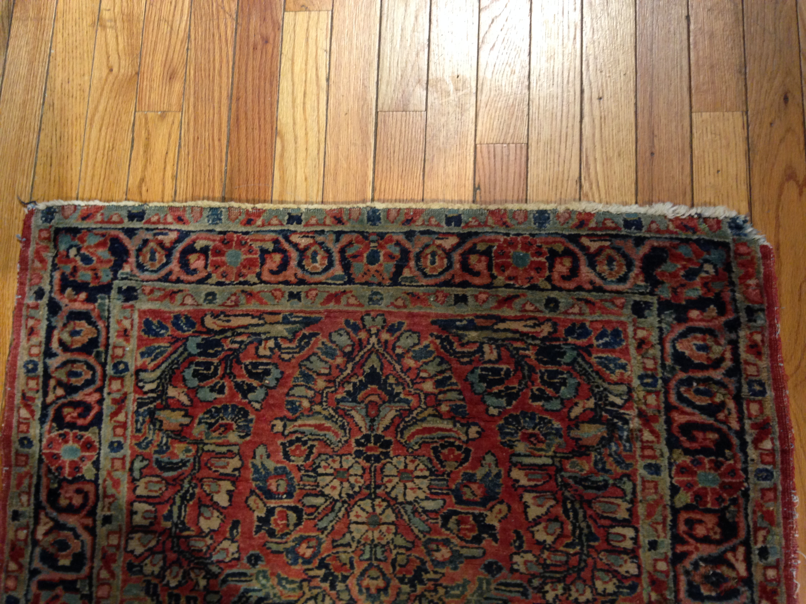 24928 Persian Sarouk hall runner 2,9 x 9,11-2