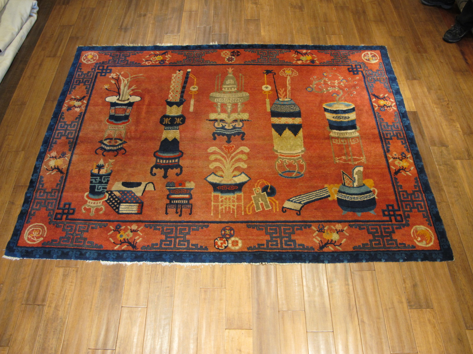 21457 Chinese Patao pictorial rug 7,9 x 5,8 (1)