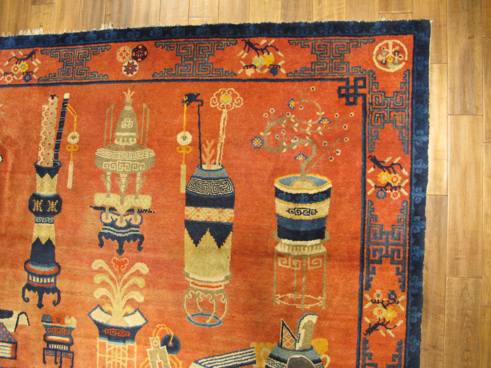 21457 Chinese Patao pictorial rug 7,9 x 5,8 (2)