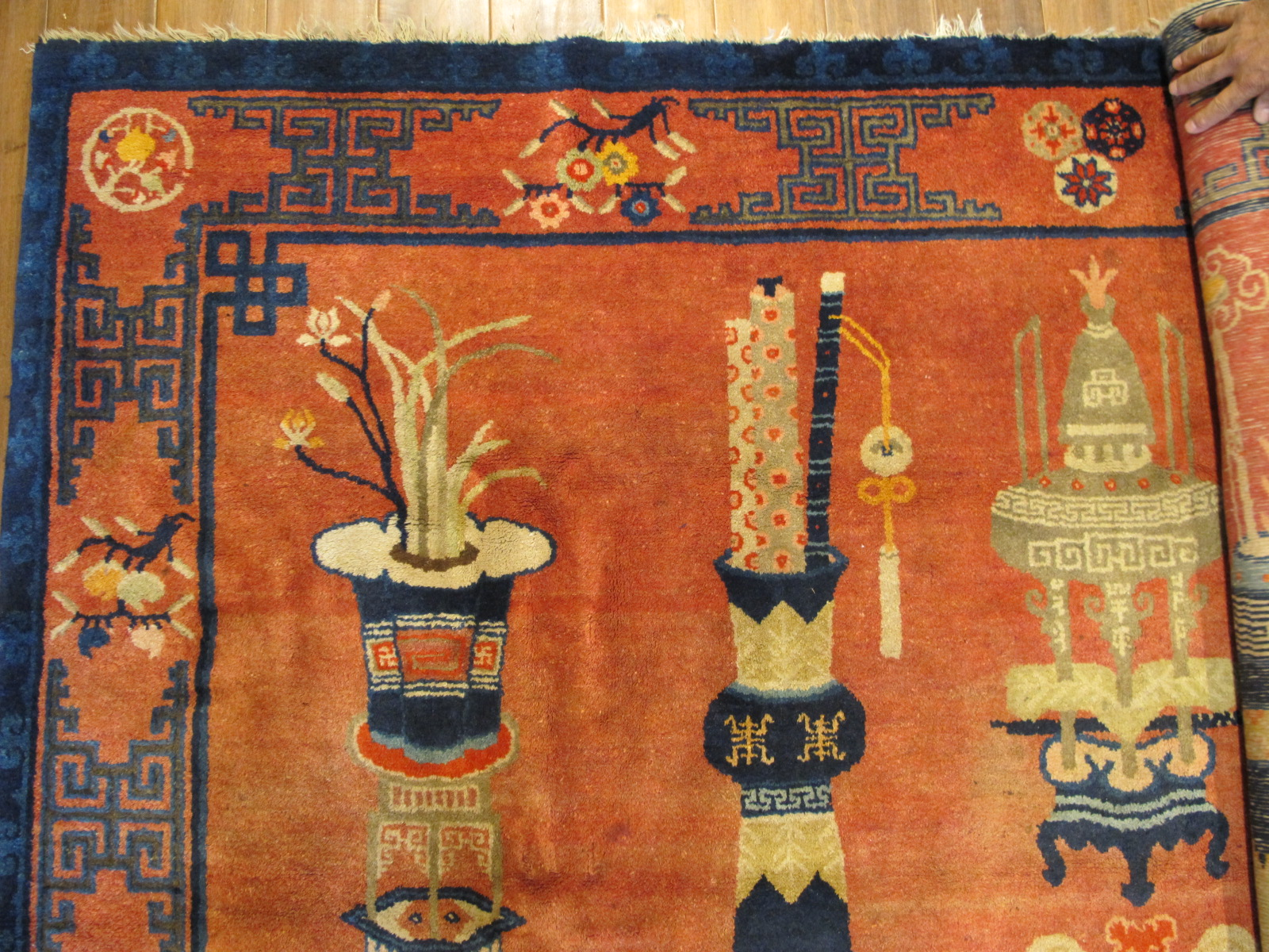 21457 Chinese Patao pictorial rug 7,9 x 5,8 (4)