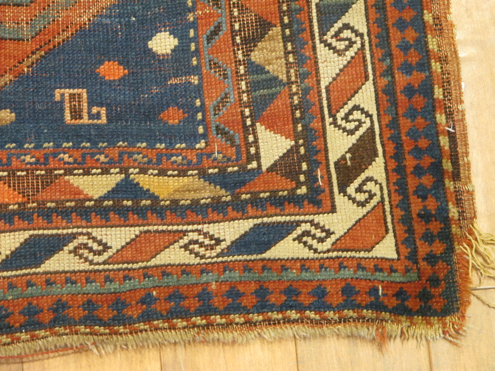 23092 antique caucasus kazak rug 3,10x7,3 (2)