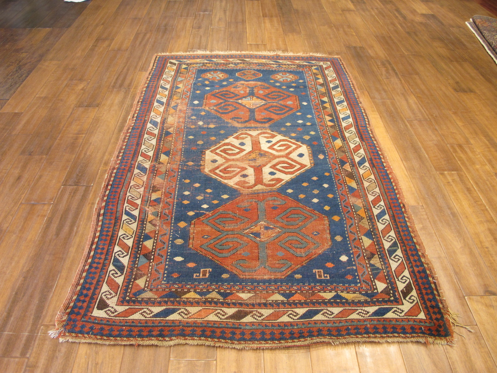 23092 antique caucasus kazak rug 3,10x7,3 (4)