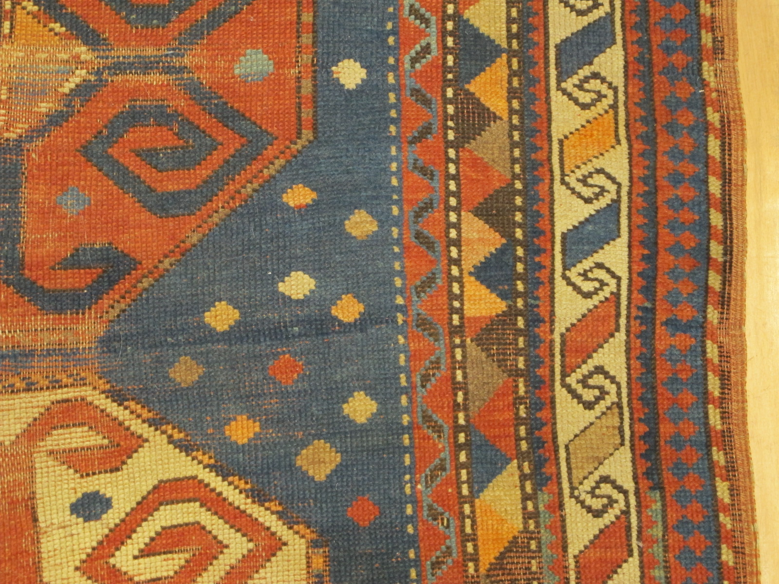 23092 antique caucasus kazak rug 3,10x7,3 (5)