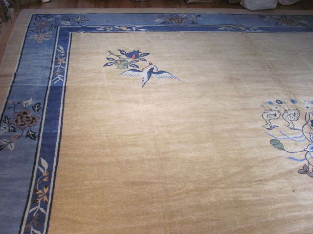 24934 Antique Chinese Peking carpet 14,9 x 26 -1