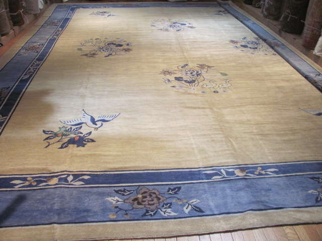 24934 Antique Chinese Peking carpet 14,9 x 26