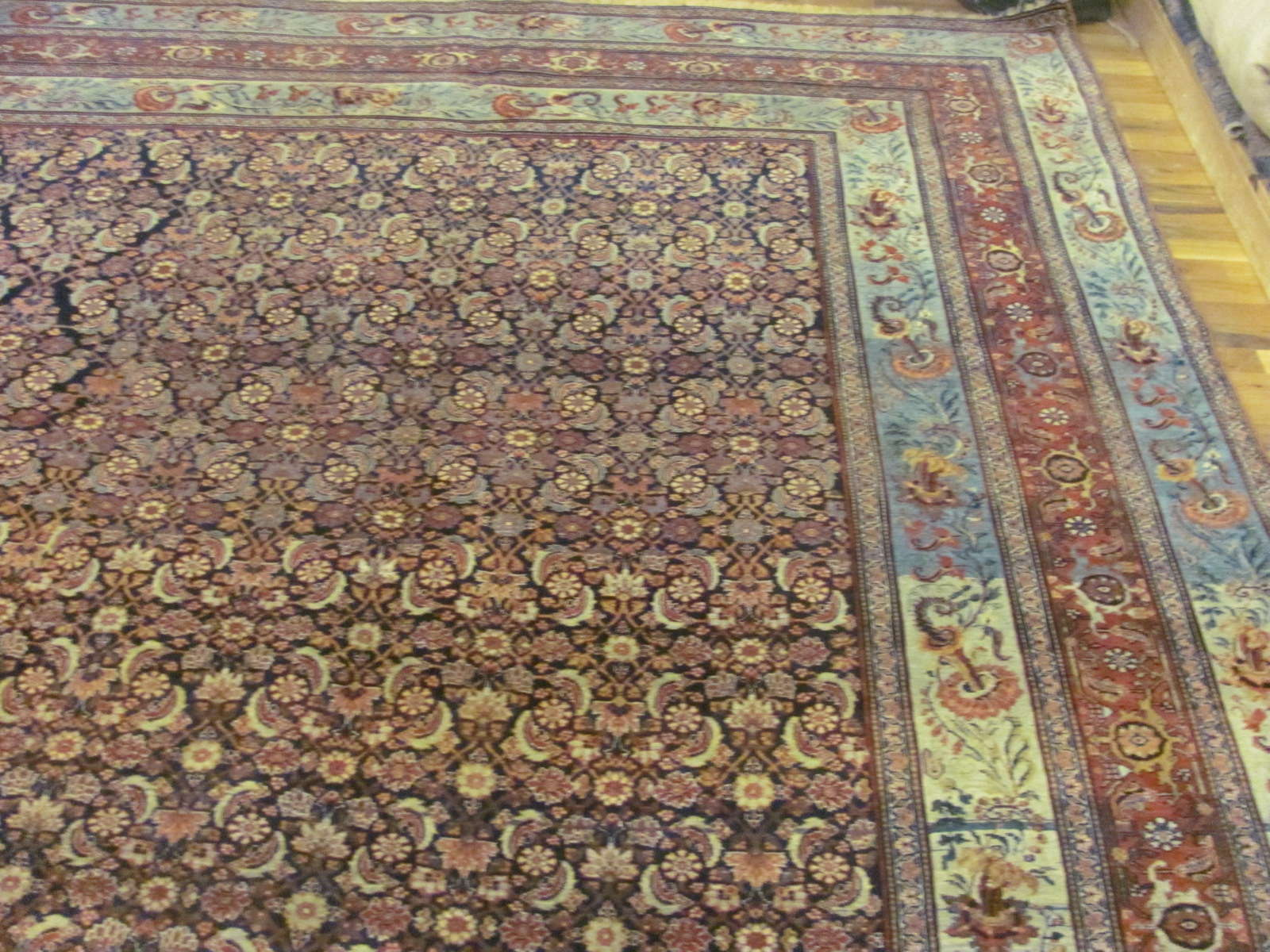 24943 Antique Persian Bidjar carpet 12,5 x 18,4 -1