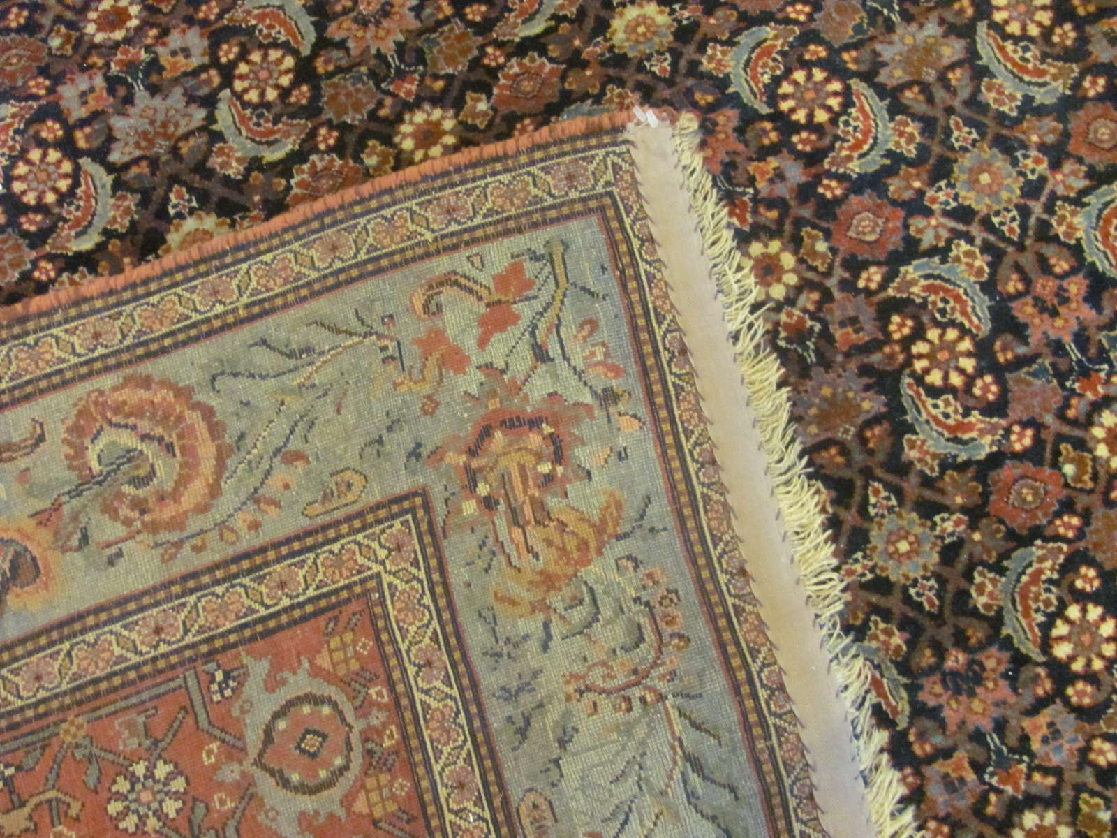 24943 Antique Persian Bidjar carpet 12,5 x 18,4 -3