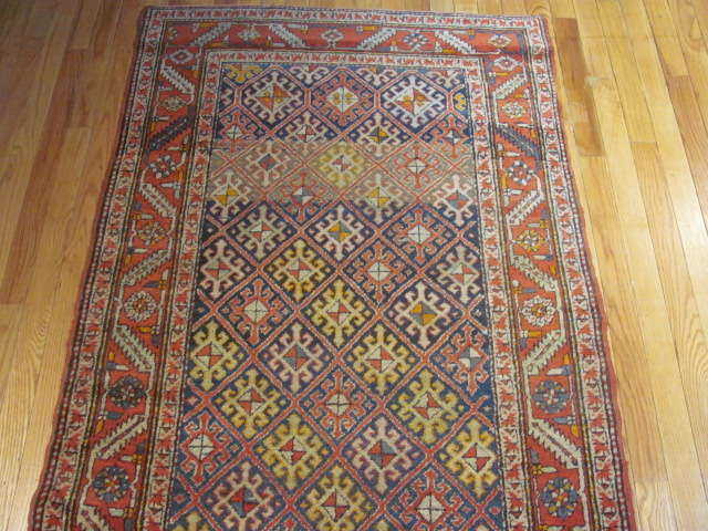 24955 Persian Heriz hall runner 3,4 x 13 -1