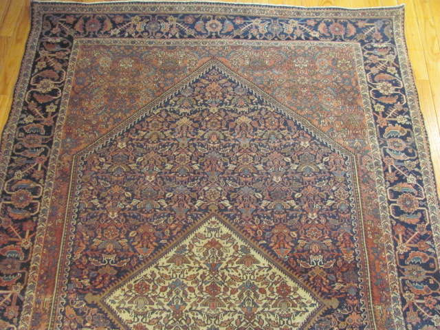 24958 Antique Persian Fereghan rug 4,4 x 6,7 -1