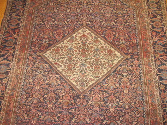 24958 Antique Persian Fereghan rug 4,4 x 6,7 -2