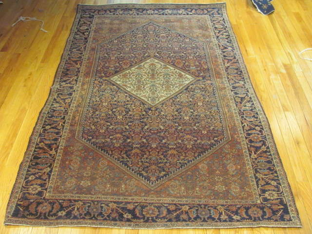24958 Antique Persian Fereghan rug 4,4 x 6,7