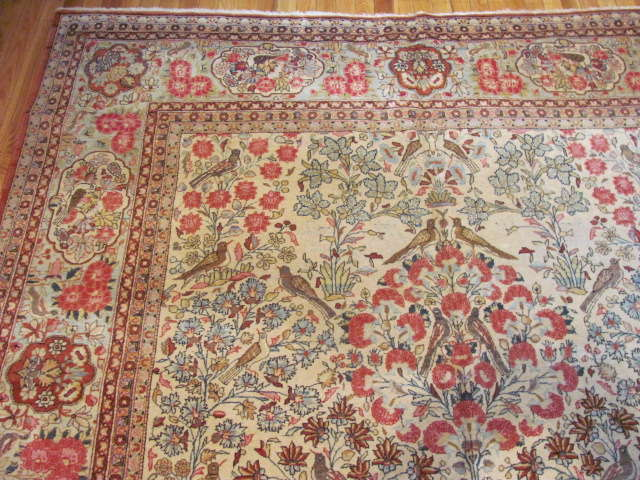 24962 Persian Kashan carpet 7 x 10 -1