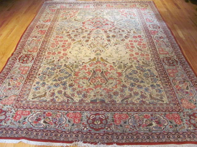 24962 Persian Kashan carpet 7 x 10