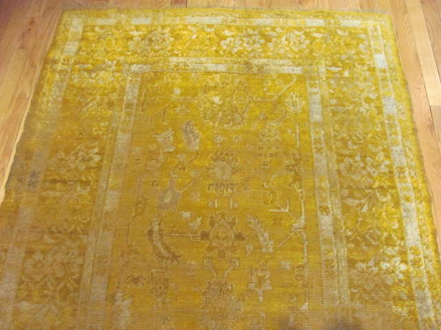24968 Antique Angora Oushak rug 3,10 x 6,6 -1