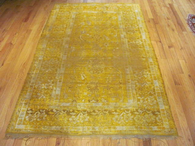 24968 Antique Angora Oushak rug 3,10 x 6,6