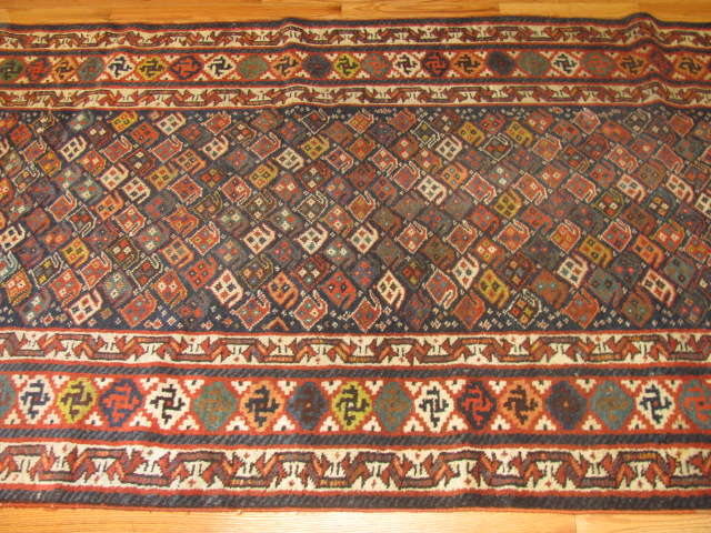 24970 Antique Kurd hall runner 3,11 x 11,1 -2