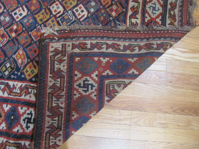 24970 Antique Kurd hall runner 3,11 x 11,1 -3