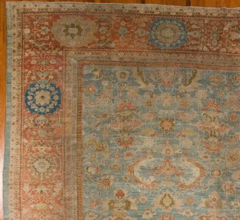 24980 Antique Persian Sultanabad  11,9 x 13 -1