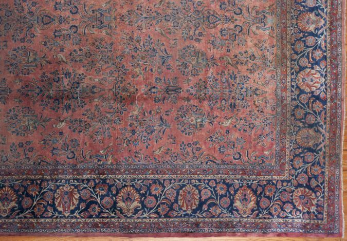 24982 Persian Kashan carpet  14 x 26