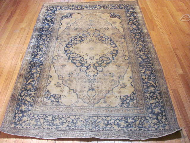24985 Antique Persian Kashan Mohteshem rug 4,4 x 6,7