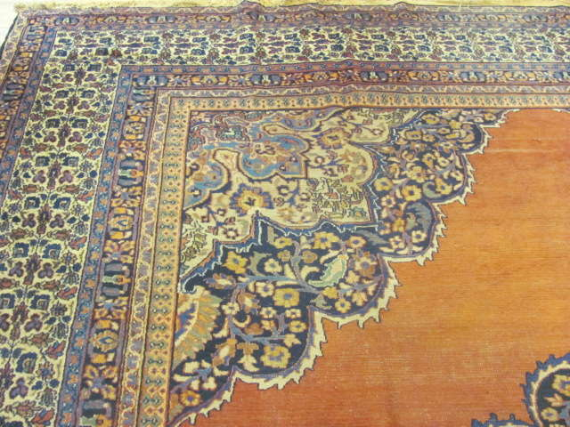 24986 Antique Persian Khorassan carpet 12 x 16,2-1
