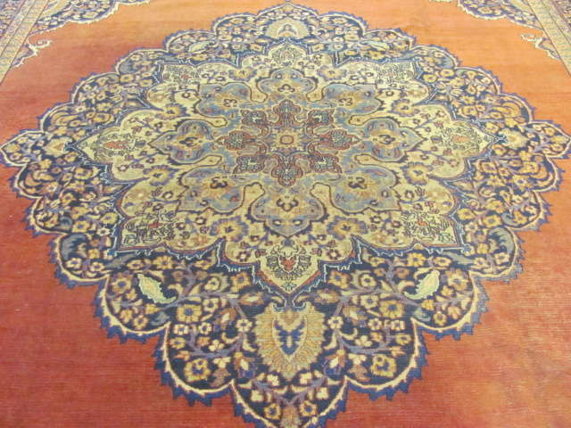 24986 Antique Persian Khorassan carpet  12 x 16,2-2