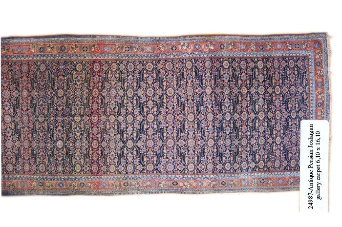 24987 Antique Persian Joshagan gallery carpet  6,10 x 16,10