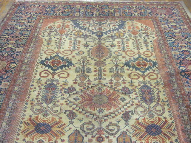 24993 Antique Persian Fereghan gallery 7,10 x 16,8 -1