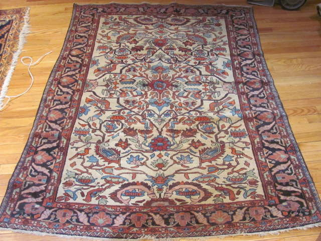 25002 Antique Malayer Mishan rug 4,3 x 5,9