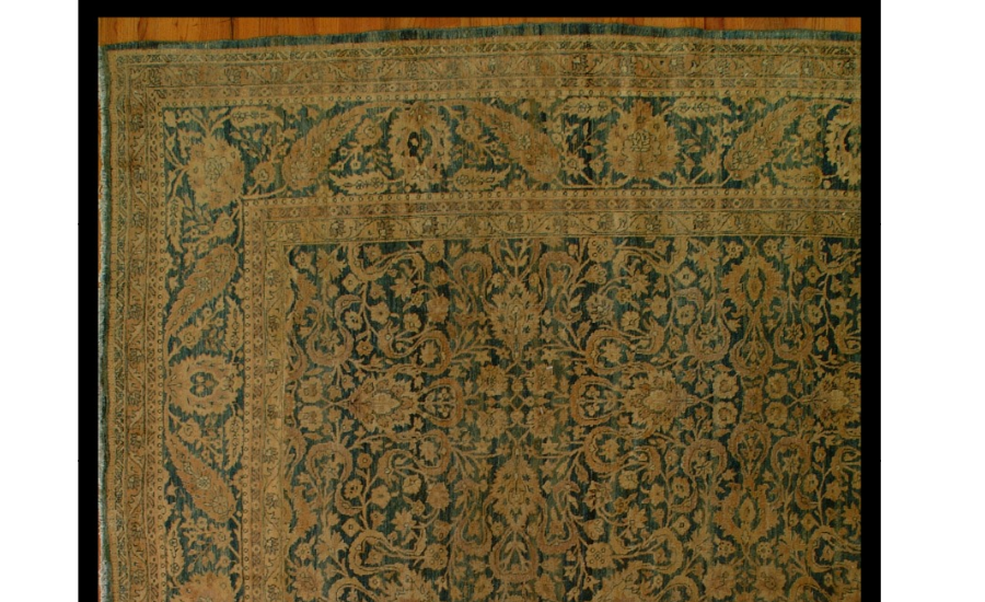 25013 Antique Persian Tabriz carpet  10,4 x 19,4-1