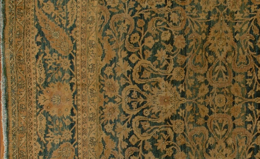 25013 Antique Persian Tabriz carpet  10,4 x 19,4-3
