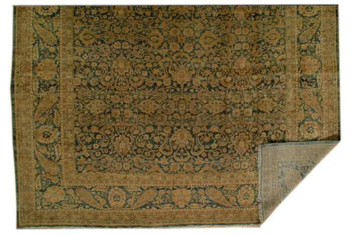 25013 Antique Persian Tabriz carpet  10,4 x 19,4