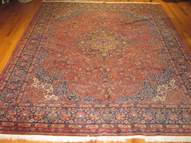 25015 Persian Kashan carpet 7,11 x 9,10
