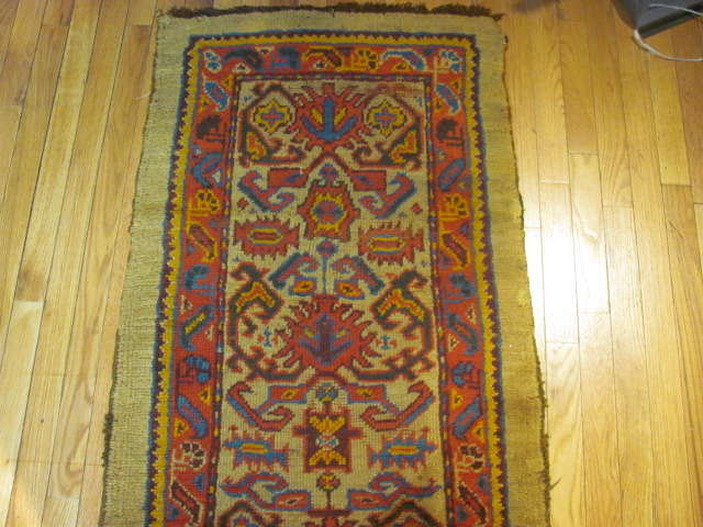 25024 Antique Anatolian Oushak hall runner  2,4 x 21,5-1