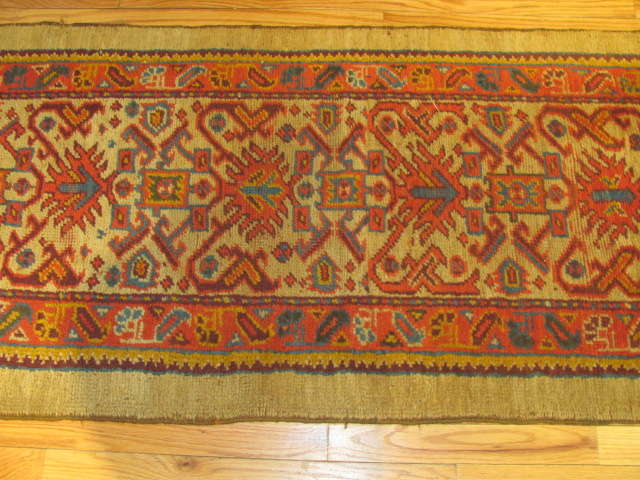 25024 Antique Anatolian Oushak hall runner  2,4 x 21,5-2