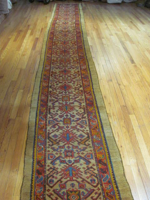 25024 Antique Anatolian Oushak hall runner  2,4 x 21,5
