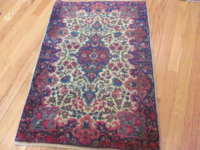 25025 Persian Kirman mat 2 x 3