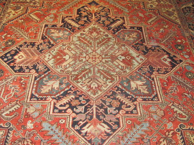 25035 Persian Heriz carpet  8,10 x 12,3-2