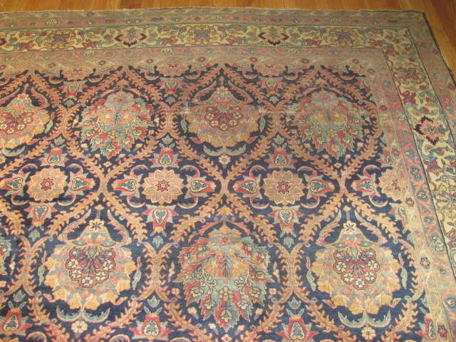25041 Antique Persian Kirman carpet 9,5 x 12,11-1