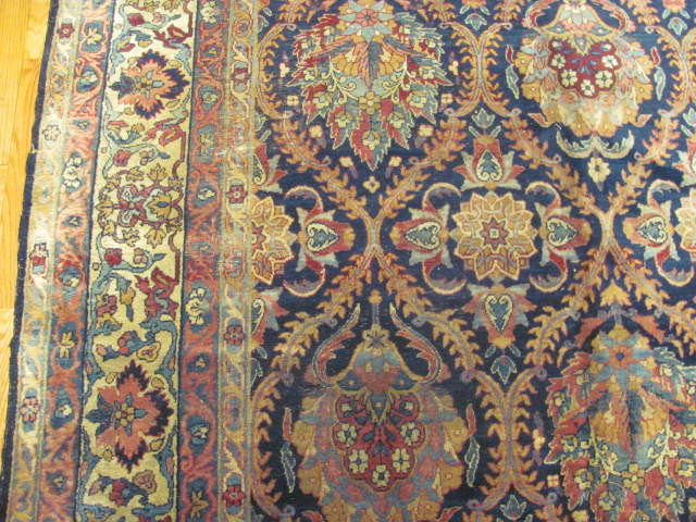 25041 Antique Persian Kirman carpet 9,5 x 12,11-2