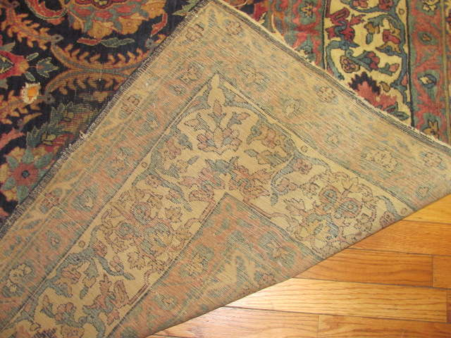 25041 Antique Persian Kirman carpet 9,5 x 12,11-3