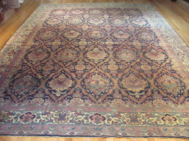 25041 Antique Persian Kirman carpet 9,5 x 12,11